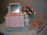 darling pink vintage childs toy dresser in Chicago, Illinois