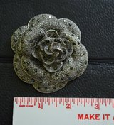 Big  Flower Rose Brooch in Lockport, Illinois