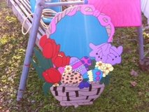 Easter Basket Lawn Decor in Alexandria, Louisiana