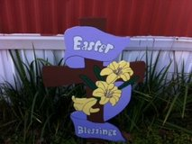 Easter Blessing's Cross Lawn Decor in Alexandria, Louisiana