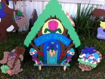 Easter Bunny Bakery Lawn Decor in Fort Polk, Louisiana
