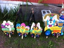 Easter Train lawn decor in Fort Polk, Louisiana