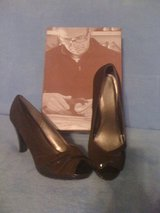 REDUCED!New,sz 8,rich brown chocolate peep toe sexy shoes in DeRidder, Louisiana