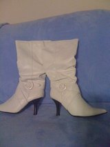 REDUCED!New,sz.8,sexy white boots in DeRidder, Louisiana