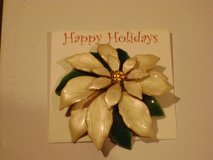Christmas Poinsettia Brooch - New On Package in Houston, Texas